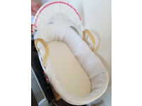 Moses Basket with Standard Stand and Mattress