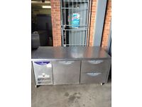 COMMERCIAL COUNTER DRAWER FRIDGE FOR SHOP CAFE RESTAURANT PREP TABLE FRIDGE CAFE SHOP TAKEAWAY