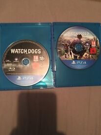 Watch dogs 1 and 2
