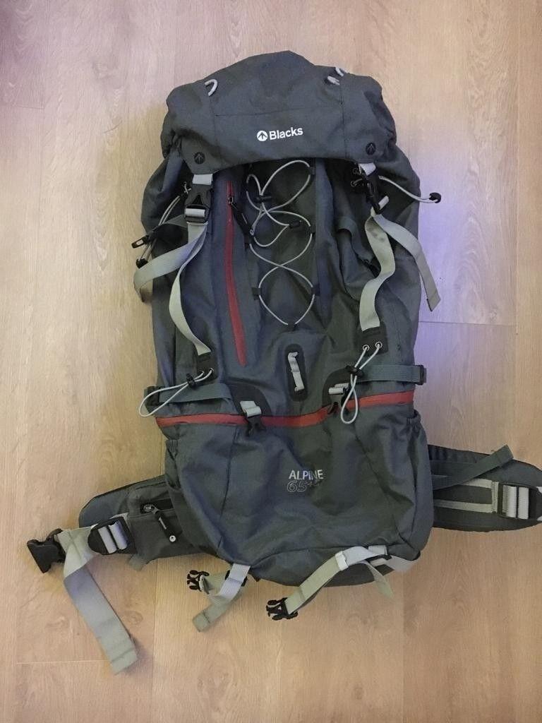 8fe82b4afb 65+5 litre Rucksack Backpack Grey Summer Holiday Camping Hiking ...