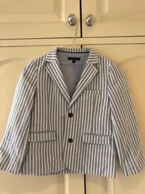 Boys blue and white striped Autograph Jacket 5-6 years
