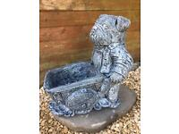 Bulldog planter garden ornament stone