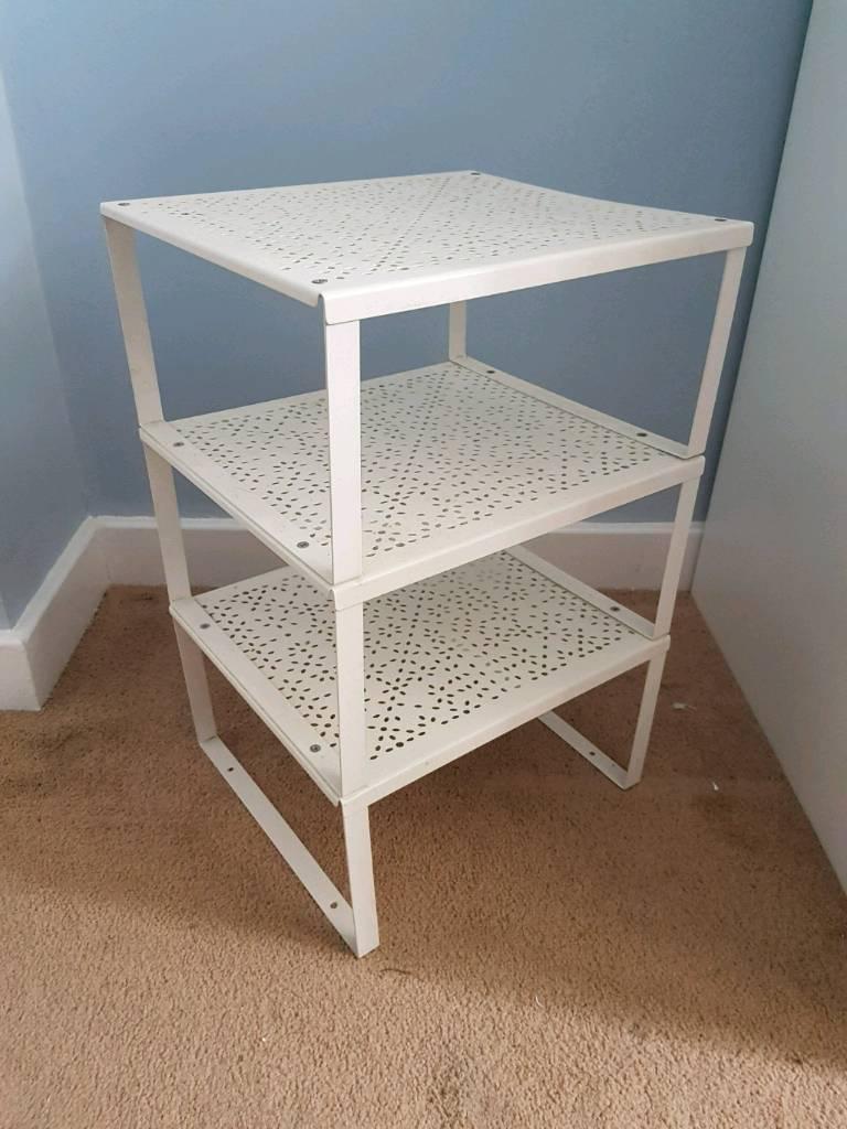 finest selection eba2d 54628 FREE Small white metal frame storage shelf unit from Ikea ...