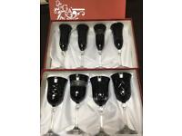 Cristal Italian large wine glasses and flutes