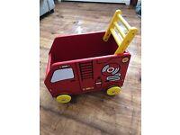 Baby Walker. Wooden Fire Engine Walker/Trolley Jojo Maman Bebe