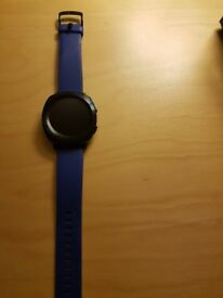 Blue Samsung Gear Sport watch