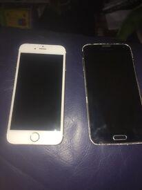 iPhone 6s Samsung galaxy s5