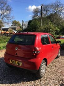 VW Fox, 1.2 litre. Great and reliable first time car.