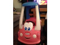 Little tikes cosy coupe princess car.