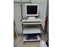 19 inch Colour Monitor and a Computer Workstation