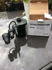 Battery powered Air Pump for inflatable airbeds