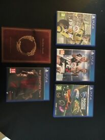 5x Playstation 4 games (REDUCED!)