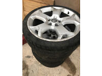 "Vauxhall 19"" Snowflake alloy Wheels and Tyres"