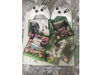 Xbox One S with 2 controllers and games including the new cod and gfa
