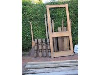 Free job lot timber including posts, bits of oak furniture