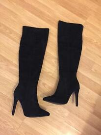 Over the knee boots, size 5