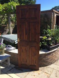 Internal wood door.