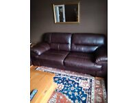 3 and 2 seater leather oak furniture land Clayton range