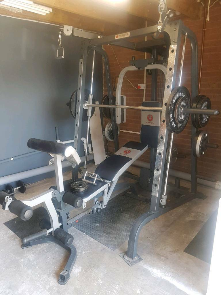 MARCY Home Gym with Smith machine & weight bench.   in Ash ...