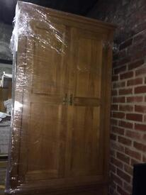 New oak wardrobe