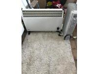 2x electric heaters/ radiators