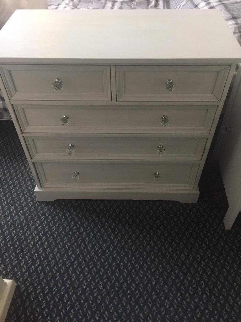 Chest of draws with crystal knobs