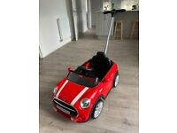 Mini Cooper push along car (red)