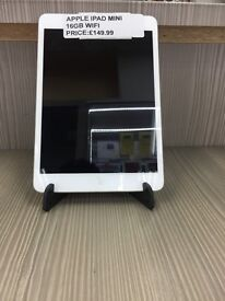 !!!!!!SUPER CHEAP DEAL APPLE IPAD MINI 16GB WIFI COMES WITH WARRANTY AND CHARGER !!!!!!
