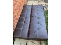 Brown Faux Leather Sofa Bed For Sale/ Can Deliver