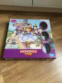Sofia the first monopoly junior