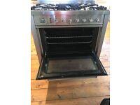 Freestanding Britannia five gas burner hop and electric oven
