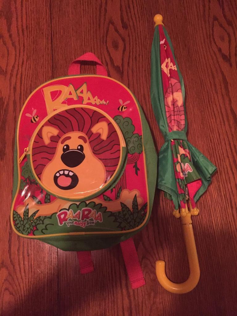 Raa Raa The Noisy Lion Umbrella Backpack In Neath Neath Port