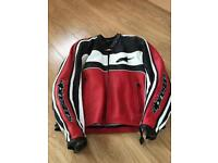 Alpinestars men's leather motorcycling jacket