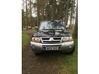 Mitsubishi Shogun 2001 diesel 7 seater manual