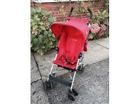 Maclaren globetrotter pushchair/stroller in red