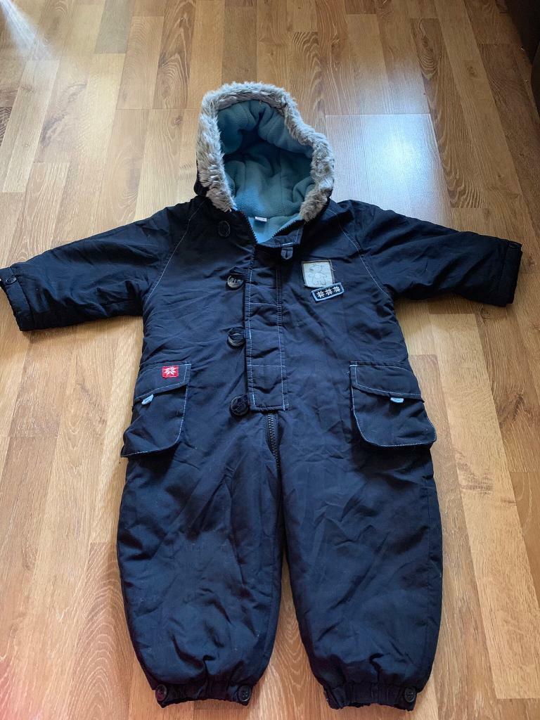 825de864b Baby boy blue snowsuit size 12-18 months excellent condition | in ...