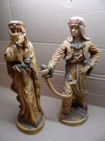 Heavy Stone made Arab Prince & Princess Figurines
