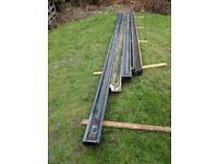 Traditional wooden gutters approx. 19m length total