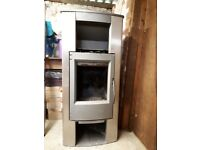 Woodburner Austroflamm Sigma. 16 years old. Not regularly used. No flue pipe.
