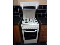 BEKO BA52NEW Freestanding gas cooker with 4 burner hob, single oven and separate grill