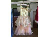 Disney Store Belle Dress and Cape Age 5-6 years