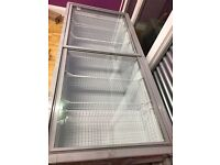 Fully functional Titan Glass Lid Shop Display Freezer
