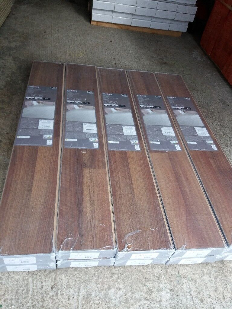 22 Brand New Unopened Boxes Colours Geraldton Walnut Laminate Flooring