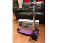 Boxed Purple Maxi Micro Scooter in good used condition