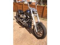 Harley Davidson custom chop chopper bobber one off show bike