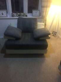 3 seater & large arm chair