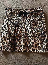 New look leopard print skirt size 10