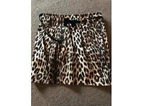 New look leopard print skirt size 10