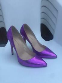LOSLANDIFEN purple court heels-womens size 39