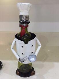 Metal Chef Bottle Holder.